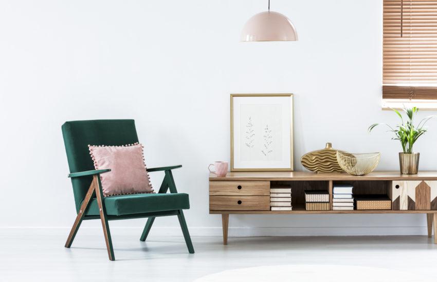 Dodatki do mieszkania w stylu retro - fotel wypoczynkowy